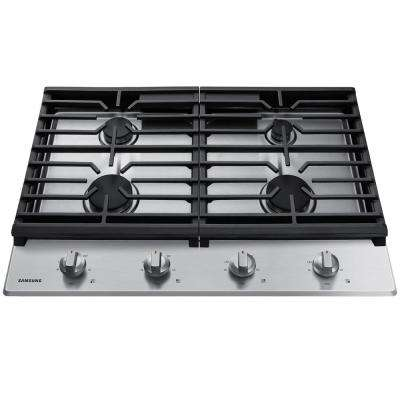 30 in. Gas Cooktop in Stainless Steel with 4-Burners
