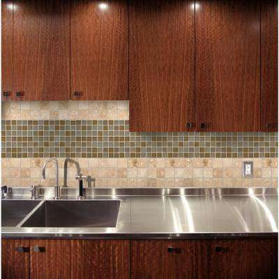 Ivory 12 in. x 12 in. x 10mm Honed Travertine Mesh-Mounted Mosaic Tile (10 sq. ft. / case)