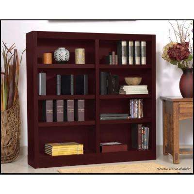 Midas Double Wide 8-Shelf Bookcase in Cherry