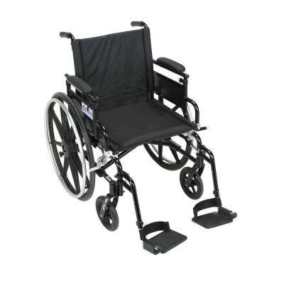 Viper Plus GT Wheelchair with Removable Flip Back Adjustable Arms, Adjustable Desk Arms and Swing-Away Footrests