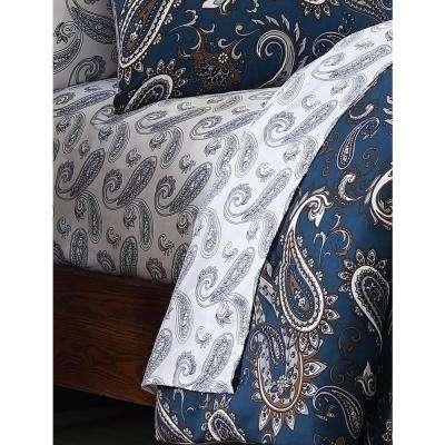 Cristobal 7-Piece Teal Paisley King Comforter Set