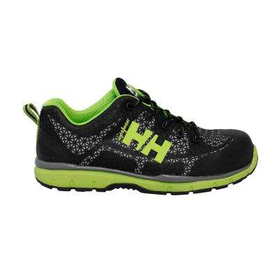 Protection Low Men's Black/Green Nylon Mesh Composite Toe Work Shoe