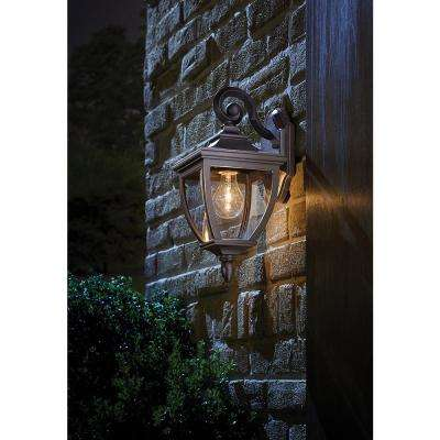 1-Light Oil-Rubbed Bronze Outdoor 6.5 in. Wall Lantern Sconce with Clear Glass
