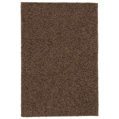 Southpointe Shag Chocolate 3 ft. x 5 ft. Area Rug