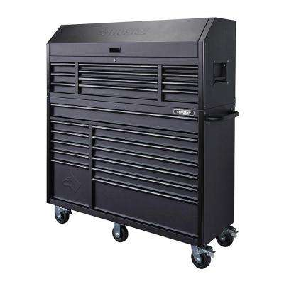 56 in. 23-Drawer Tool Chest and Rolling Cabinet Set, Textured Black Matte