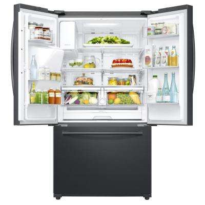 24.2 cu. ft. Family Hub French Door Smart Refrigerator in Black Stainless