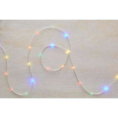 26 ft. 100-Light LED Multi-Color Battery Operated Micro Dot Rope Light