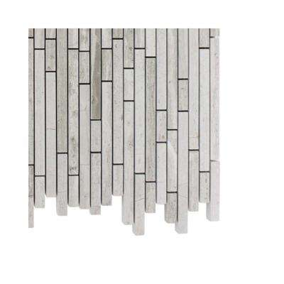 Windsor Random Wooden Beige Marble Mosaic Floor and Wall Tile - 3 in. x 6 in. x 8 mm Tile Sample