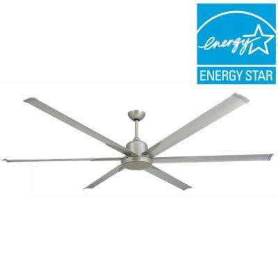 Titan 84 in. Indoor/Outdoor Brushed Nickel Ceiling Fan and Light