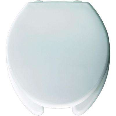 Medic-Aid STA-TITE Round Open Front Toilet Seat in White