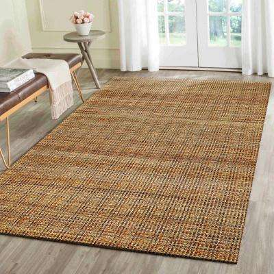 Contemporary Hebrides Rectangle 9 ft. x 12 ft. Braided Natural Fiber Indoor Area Rug