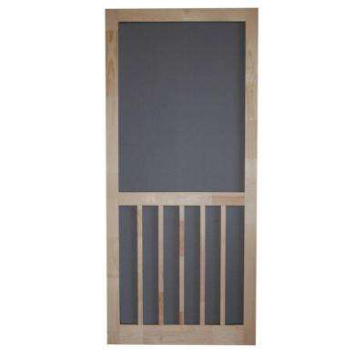 Timberline Wood Unfinished Hinged Screen Door