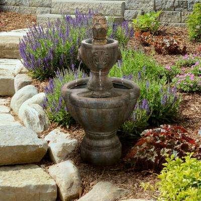 32 in. Lion Head Fountain