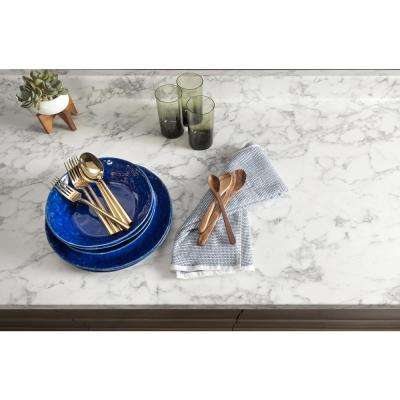 3 in. x 5 in. Laminate Countertop Sample in Marmo Bianco with Premium Textured Gloss