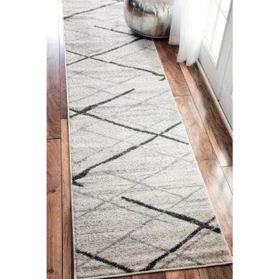 Thigpen Grey 2 ft. x 9 ft. Runner Rug