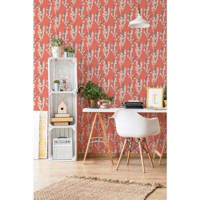 Nomad Collection Heart Breaker in Cayenne Removable and Repositionable Wallpaper