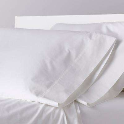 Garment-Washed Solid Organic Cotton Percale Pillowcase (Set of 2)