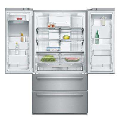 800 Series 36 in. 20.7 cu. ft. French Door Refrigerator in Stainless Steel with 2 Freezer Drawers,Counter Depth