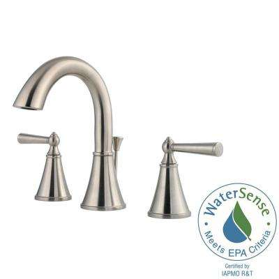Saxton 8 in. Widespread 2-Handle Bathroom Faucet in Brushed Nickel