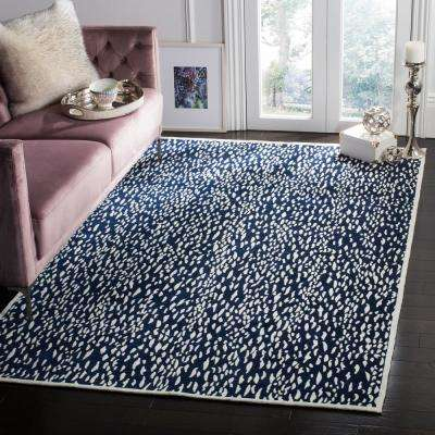 Marbella Navy Blue/Ivory 8 ft. x 10 ft. Area Rug
