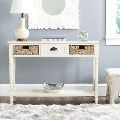 Winifred White Pine Wood Console