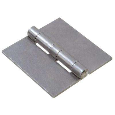 3-1/2 in. Plain Steel Weldable Surface Hinge Square Corner with Full Surface Fixed Pin (5-Pack)