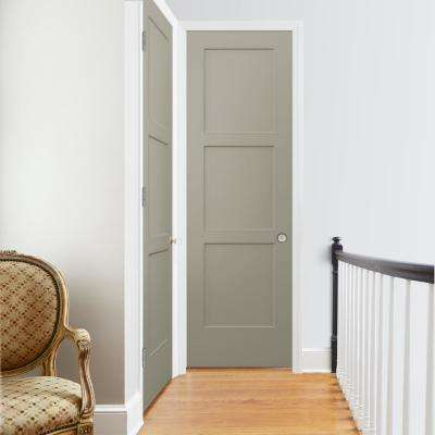 30 in. x 96 in. Birkdale Desert Sand Paint Left-Hand Smooth Solid Core Molded Composite Single Prehung Interior Door