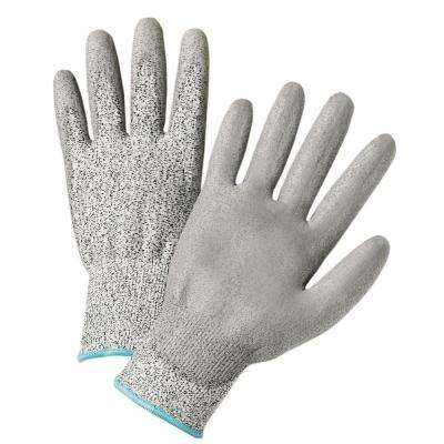Gray PU Coated HPPE Fiber Gloves (12-Pack)