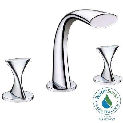 Twist Collection 8 in. Widespread 2-Handle Bathroom Faucet in Chrome
