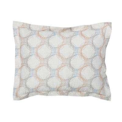 Rings Geometric Organic Cotton Percale Sham