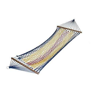 6 ft. Swing Polyester Rope Hammock in Rainbow Blue
