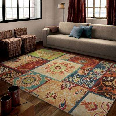 Patchland Multi 8 ft. x 11 ft. Indoor Area Rug