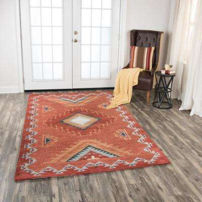 Mesa Red Multicolor 5 ft. x 8 ft. Rectangle Area Rug
