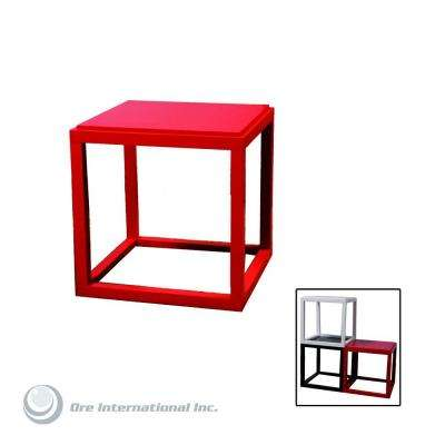Red Stackable Cubic Table