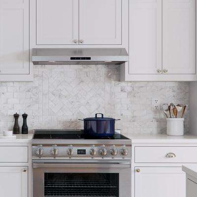 30 in. Under Cabinet Range Hood in Stainless Steel with Aluminum Mesh Filters, LED lights, Digital Touch Screen Control