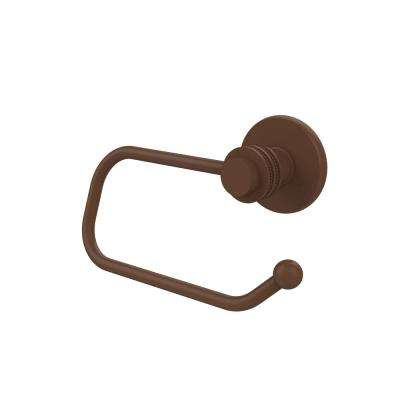 Mercury Collection Euro Style Single Post Toilet Paper Holder with Dotted Accents in Antique Bronze