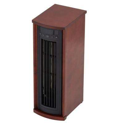 23 in. 1500-Watt Infrared Tower Heater - Cherry