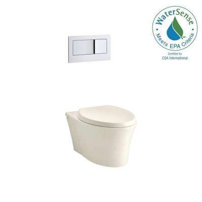 Veil 1-Piece 0.8 or 1.6 GPF Dual Flush Elongated Toilet in Biscuit