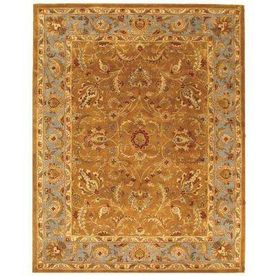 Heritage Brown/Blue 11 ft. x 16 ft. Area Rug