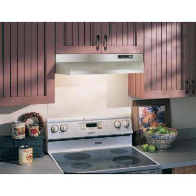 42000 Series 36 in. Under Cabinet Range Hood with Light in Stainless Steel