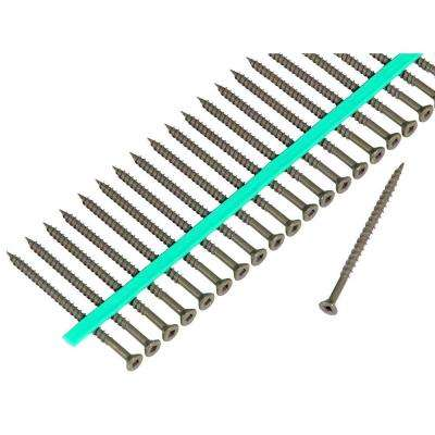 #8 3 in. Internal Square Flat-Head Wood Deck Screws (200-Pack)