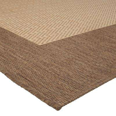 Checkered Field Natural 6 ft. x 9 ft. Area Rug