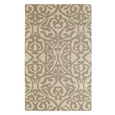 Palace Silver/Ivory 2 ft. x 4 ft. Indoor Area Rug
