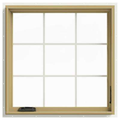 36 in. x 36 in. W-2500 Right-Hand Casement Aluminum Clad Wood Window