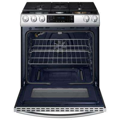 30 in. 6.0 cu. ft. Slide-In Gas Range with Air Fry and Fan Convection in Fingerprint Resistant Stainless Steel