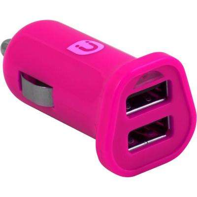 2.0 - 2.4 Amp DC USB Adapter, Pink