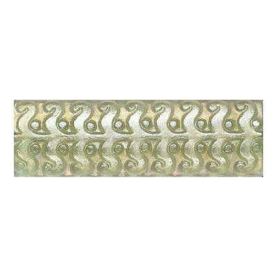 Cristallo Glass Peridot 3 in. x 8 in. Perennial Glass Accent Wall Tile