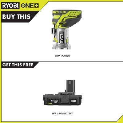 18-Volt ONE+ Cordless Fixed Base Trim Route with 1.5 Ah Compact Lithium-Ion Battery