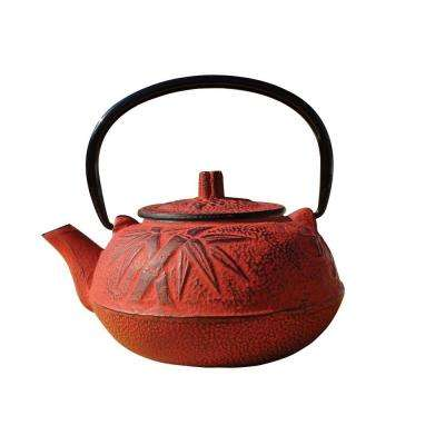 20 oz. Cast Iron Osaka Teapot in Red