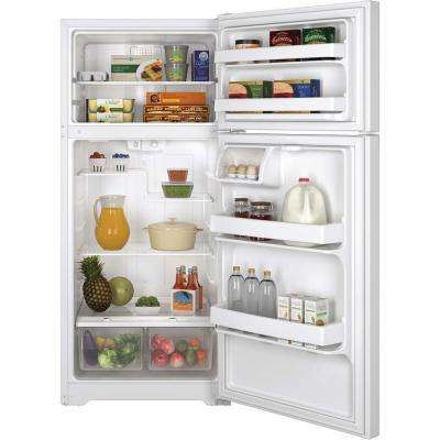 15.5 cu. ft. Top Freezer Refrigerator in White